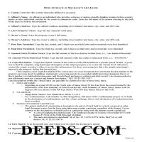Miami County Affidavit for Mechanic Lien Guide Page 1