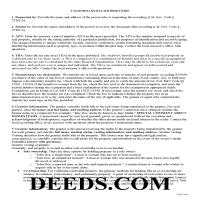 Napa County Quit Claim Deed Guide Page 1