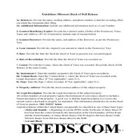 Harrison County Full Deed of Release Guidelines Page 1