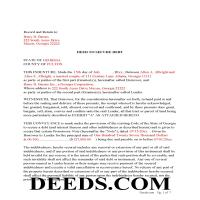 Jeff Davis County Completed Example-Deed to Secure Debt Page 1