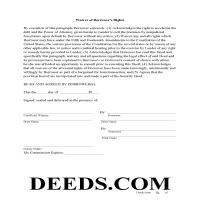 Jeff Davis County Waiver of Borrowers Rights Page 1