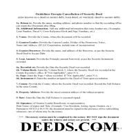 Jeff Davis County Guidelines for Cancellation of Security Deed Page 1