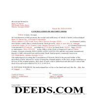 Jeff Davis County Completed Example of the Cancellation of Security Deed Page 1
