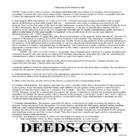 Amherst County Gift Deed Guide Page 1