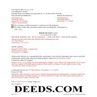 Bedford County Completed Example of the Gift Deed Document Page 1
