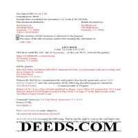 Danville City Completed Example of the Gift Deed Special Warranty Document Page 1