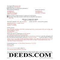 Martinsville City Completed Example of the Special Warranty Deed Document Page 1