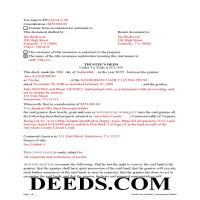 Richmond County Completed Example of the Trustee Deed Document Page 1