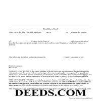 Daviess County Beneficiary Deed Form Page 1