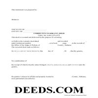 Wilcox County Correction Warranty Deed Form Page 1