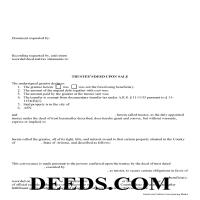 Navajo County Trustee Deed Upon Sale Page 1