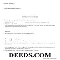 Graham County Certificate of Trust Form Page 1