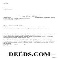 Bradley County Notice of Intent to File Form Page 1