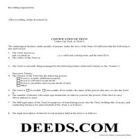 Orange County Certificate of Trust Form Page 1