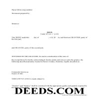 Sussex County Special Warranty Deed Form Page 1