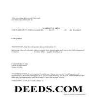 Twin Falls County Warranty Deed Form Page 1
