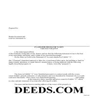Hardin County Claim of Mechanics Lien Form Page 1