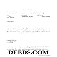 Vernon Parish Correction Deed Form Page 1