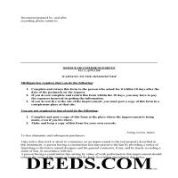 Ingham County Notice of Commencement Form Page 1
