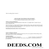 Grant County Transfer on Death Deed Form Page 1