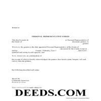 Grant County Personal Representative Deed of Sale Form Page 1
