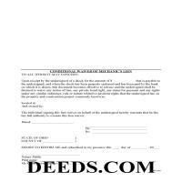 Miami County Conditional Lien Waiver Form Page 1