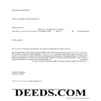 Cambria County Special Warranty Deed Form Page 1