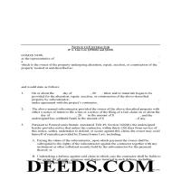 Delaware County Notice to Contractor Form Page 1