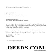 Clarendon County Quit Claim Deed Form Page 1