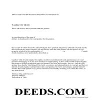 York County Warranty Deed Form Page 1