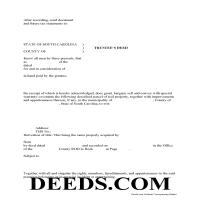 Florence County Trustee Deed Form Page 1
