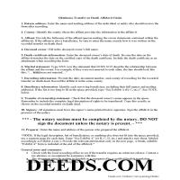 Tillman County Transfer on Death Affidavit of Acceptance Guide Page 1