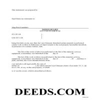 Union County Notice of Mechanics Lien Form Page 1