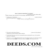 Union County Disclaimer of Interest Form Page 1