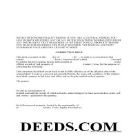 Bosque County Correction Deed Form Page 1