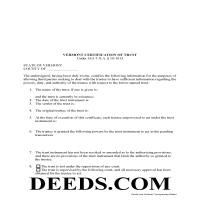 Essex County Certificate of Trust Form Page 1