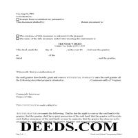 Warren County Trustee Deed Form Page 1