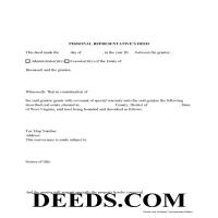 Brooke County Personal Representative Deed Form Page 1