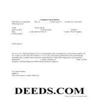 Pendleton County Correction Deed Form Page 1