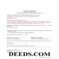 Park County Completed Example of the Transfer on Death Deed Document Page 1