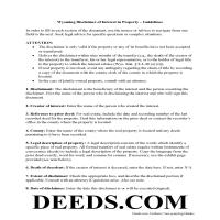 Weston County Disclaimer of Interest Guide Page 1
