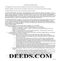 Lowndes County Gift Deed Guide Page 1