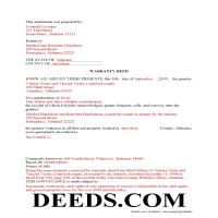 Perry County Completed Example of the Warranty Deed Document Page 1