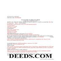 Butler County Completed Example of the Special Warranty Deed Document Page 1