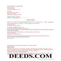 Choctaw County Completed Example of the Grant Deed Document Page 1