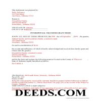 Perry County Completed Example of the Interspousal Transfer Grant Deed Document Page 1
