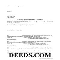 Conecuh County Easement Deed Form Page 1