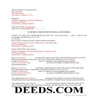 Conecuh County Completed Example of the Easement Deed Document Page 1