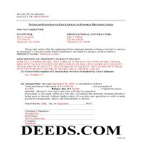 Choctaw County Completed Example of the Notice on Intention Document Page 1