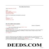 Geneva County Completed Example of the Full Price Lien Notice Document Page 1